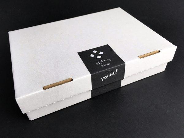 X stitch design asztali lámpa doboz