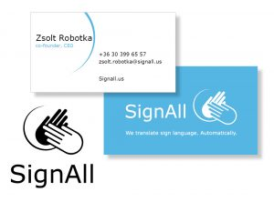 SignAll arculat tervezés